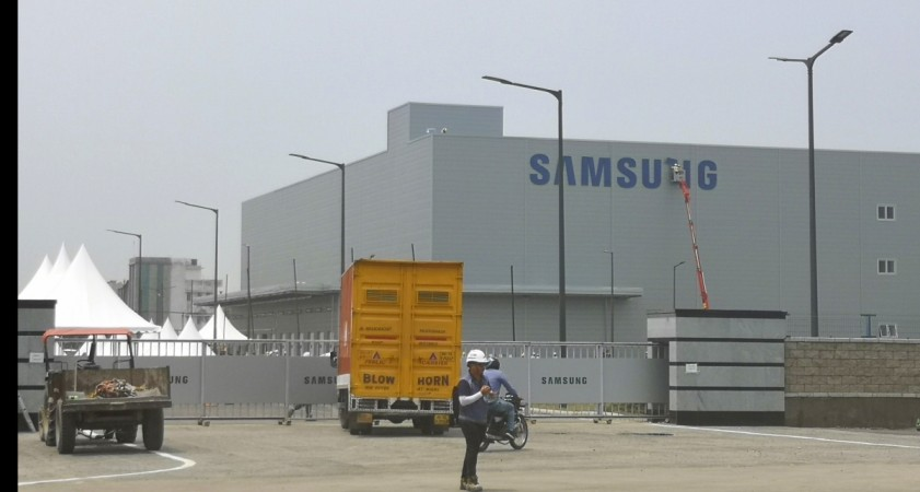 Samsung's mobile manufacturing plant in Noida.