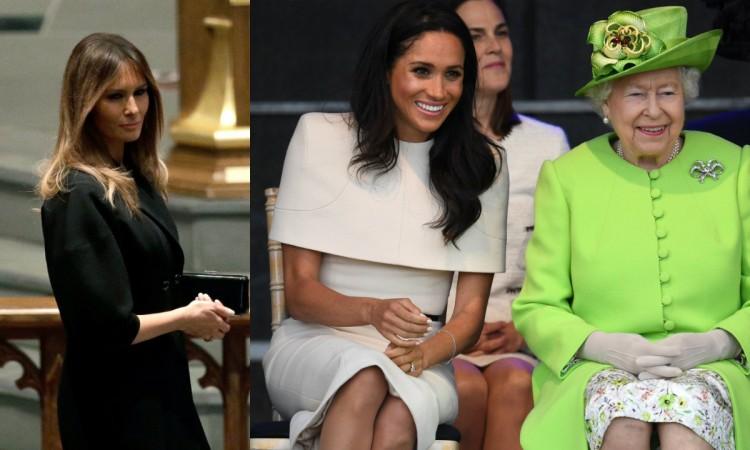 Meghan Markle Queen Elizabeth, Melania Trump