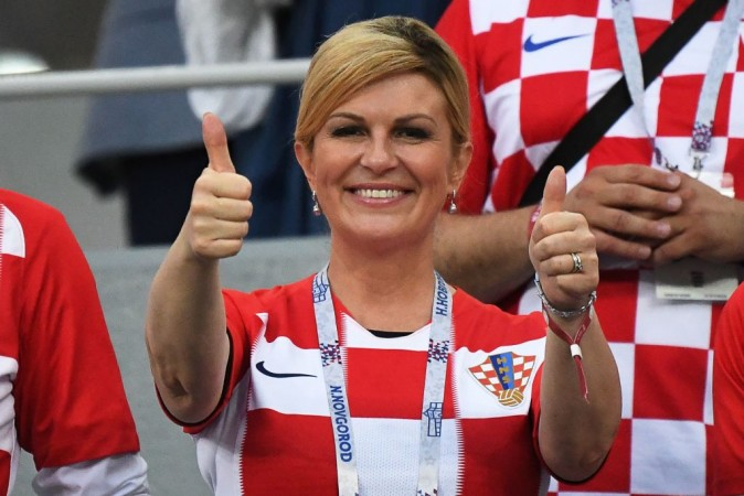 Croaita president Kolinda Grabar-Kitarovic at Fifa World Cup 2018