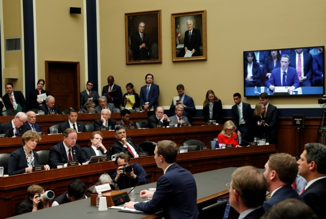 Facebook CEO Mark Zuckerberg testifies before a House Energy and Commerce Committee hearing