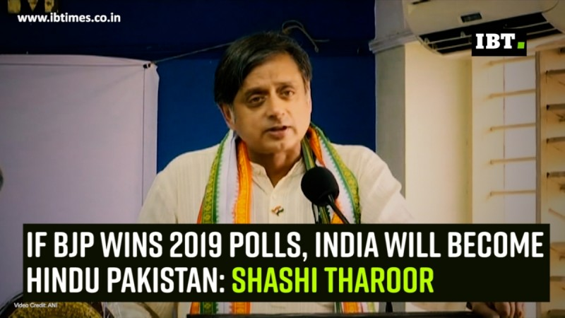If BJP wins 2019 polls, India will become Hindu Pakistan: Shashi Tharoor
