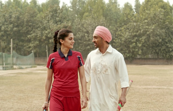Diljit Dosanjh and Tapsee Pannu in Soorma