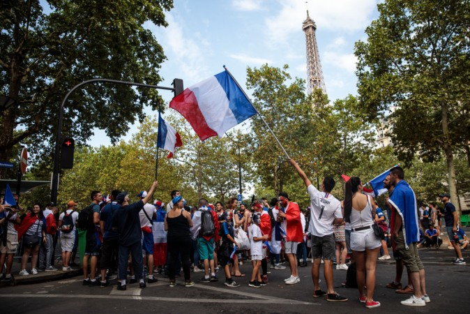 France fans Fifa World Cup 2018