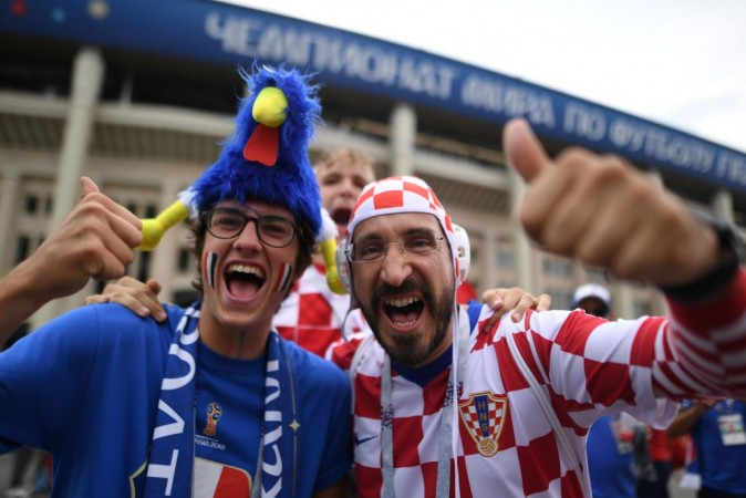 Croatia and France fans at Fifa World Cup