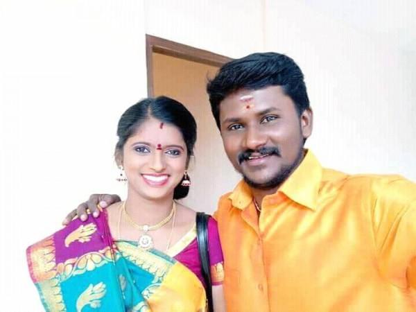 Super Singer 6 winner Senthil Kumar with his wife Rajalakshmi