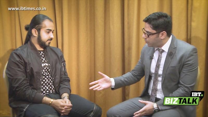 IBT BizTalk: IBTimes India Executive Editor Danish Manzoor (right) in talk with Almora founder Evan Luthra (left)