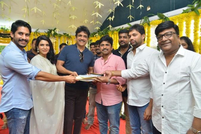 Akkineni Nagarjuna at Samantha-Naga Chaitanya's new movie launch