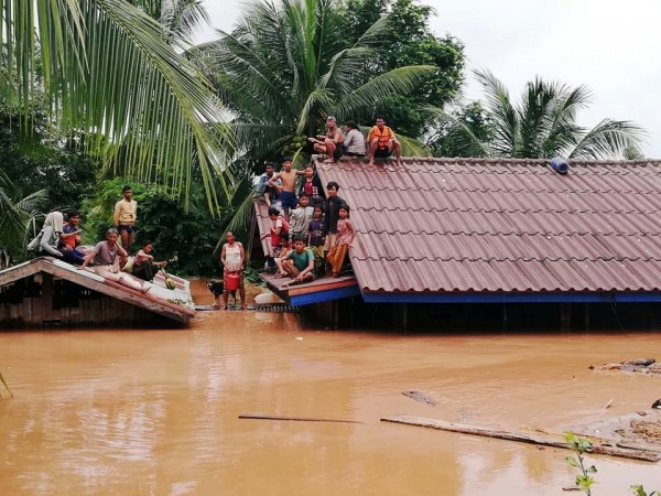 Villagers evacuate after the Xepian-Xe Nam Noy hydropower dam collapsed