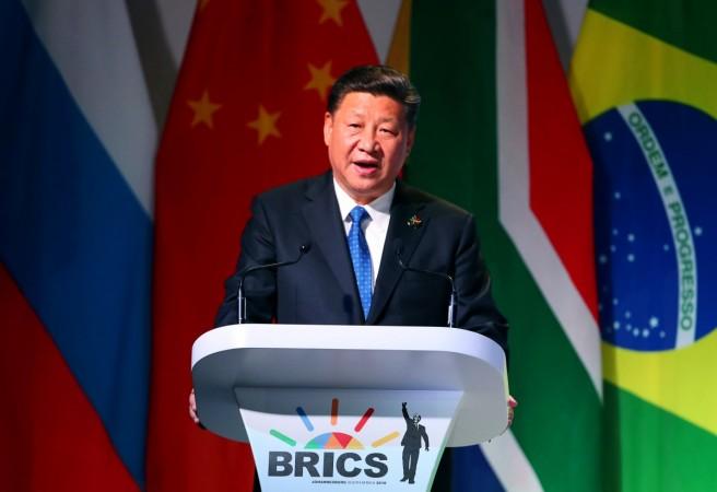 Xi Jinping speaks at the BRICS Summit