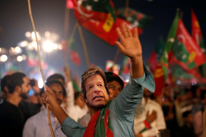 PTI supporter celebrates ahead of Pakistan elections