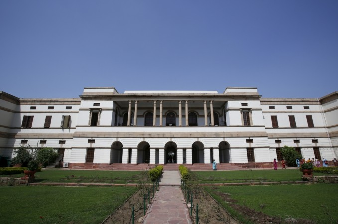 A rear view of the Nehru memorial museum and library in New Delhi
