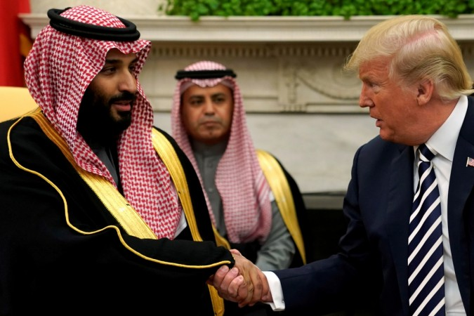 Saudi Arabia's Crown Prince Mohammed bin Salman in the Oval Office