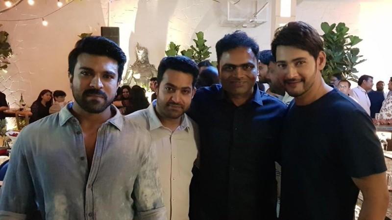 Mahesh Babu, Jr NTR and Ram Charan at Vamshi Paidipally's birthday party