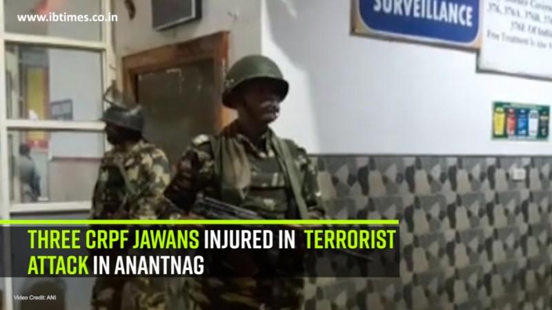 3 CRPF jawans injured in terrorist attack in Anantnag