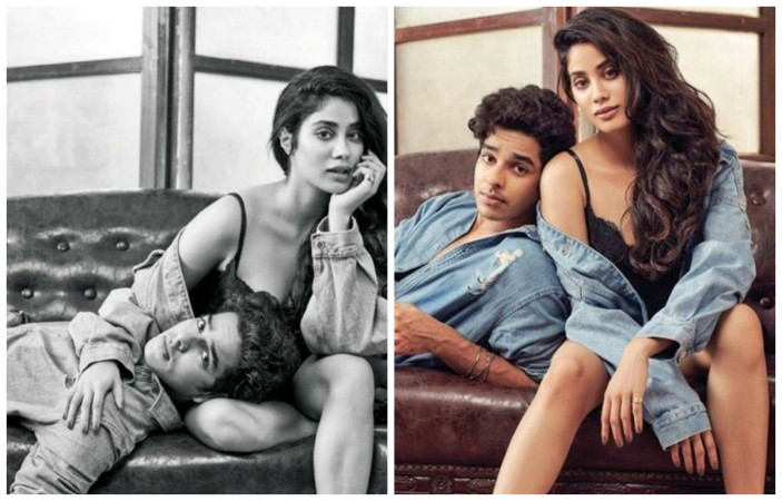 Janhvi Kapoor and Ishaan Khatter's steamy photoshoot