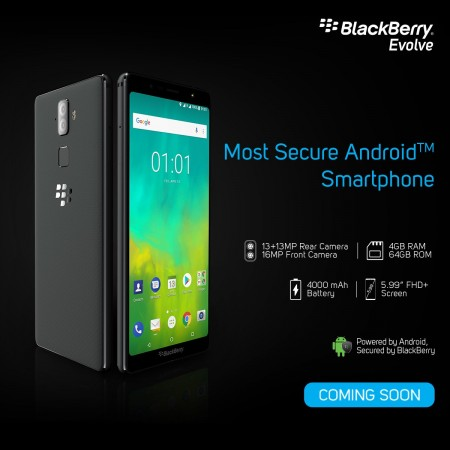 BlackBerry Evolve launched in India