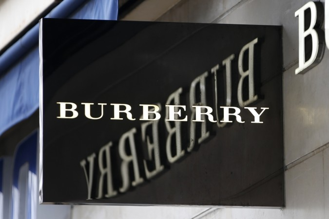 The logo of Burberry outlet store