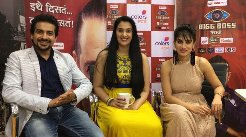 Bigg Boss Marathi Finalists Pushkar Jog, Sai Lokur and Smita Gondkar