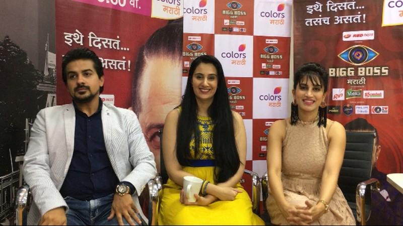 Bigg Boss Marathi Finalists Pushkar Jog, Sai Lokur & Smita Gondkar