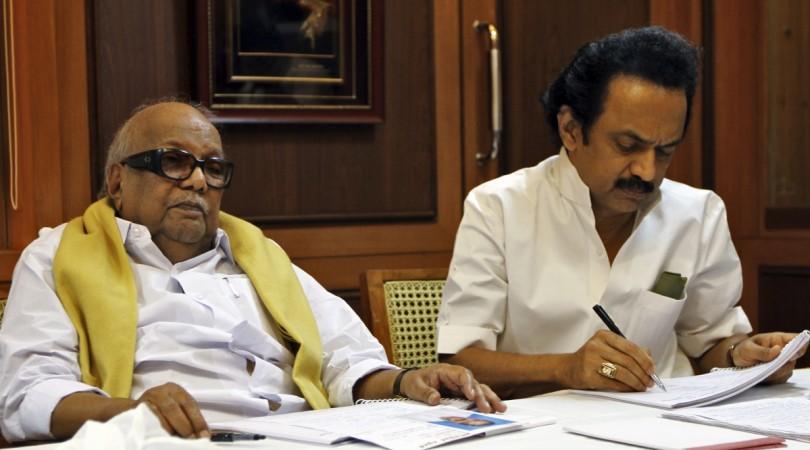 Karunanidhi and MK Stalin
