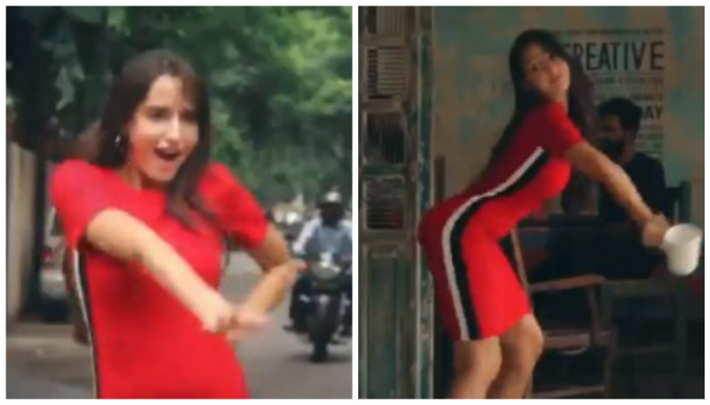 Nora Fatehi sets out new dare similar to Kiki Challenge