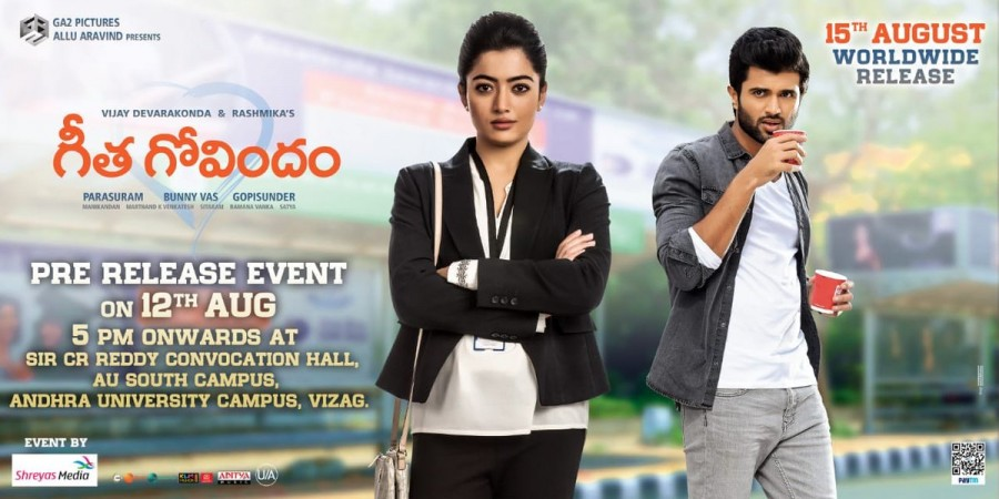 Geetha Govindam pre-release event poster