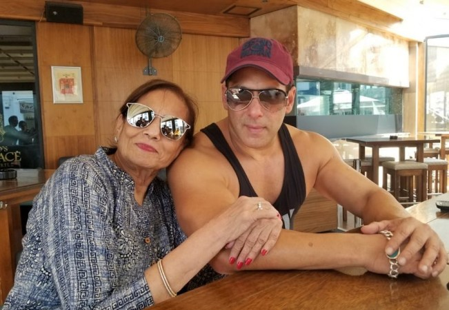 Salman Khan with his mother Salma Khan in Malta