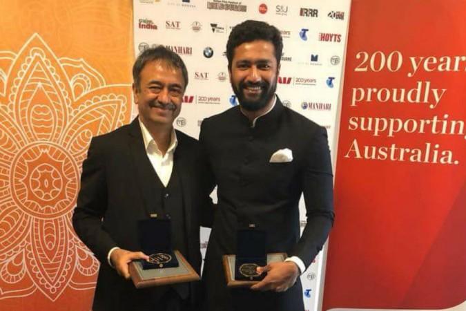 Rajkumar Hirani and Vicky Kaushal receive awards at IFFM 2018