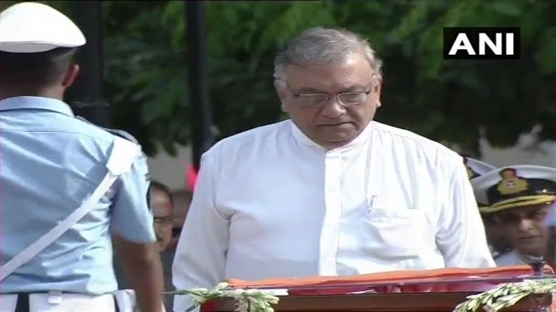 "Atal Bihari Vajpayee funeral ""title ="" Sri Lanka acting Minister of Foreign Affairs Lakshman Kiriella."