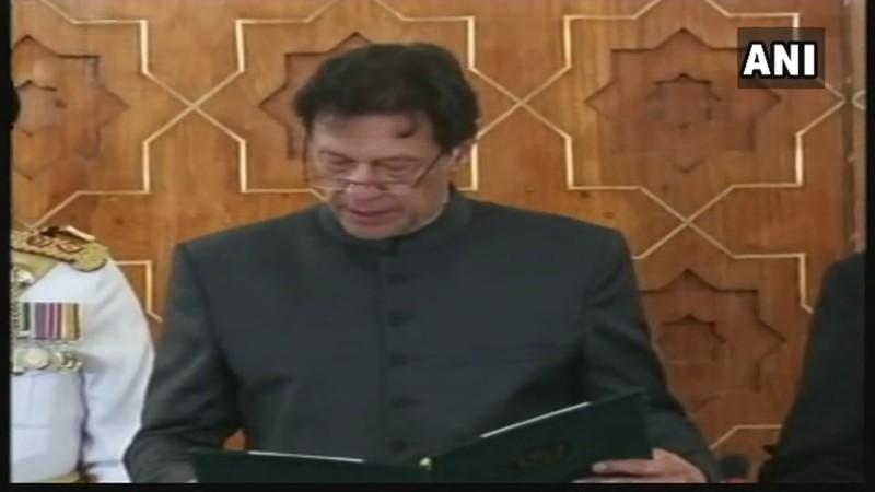 imran khan swearing-in