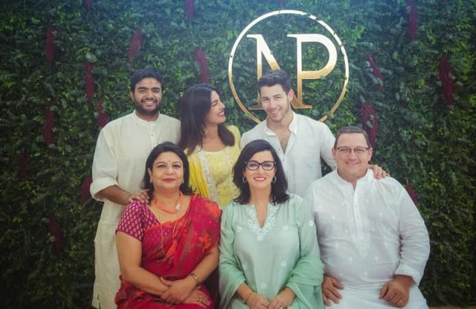 Priyanka Chopra-Nick Jonas engagement family picture