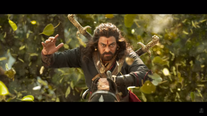 The first look teaser of Chiranjeevi's Sye Raa Narasimha Reddy is unveiled.