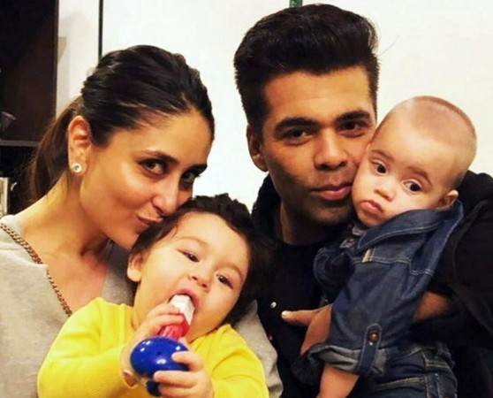 Kareena Kapoor, son Taimur, Karan Johar, daughter Roohi