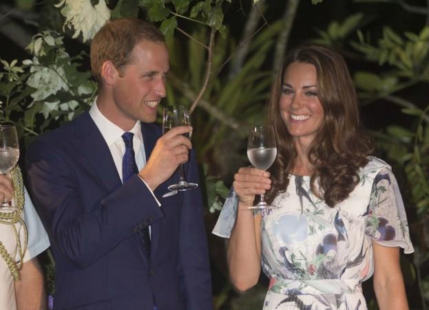 Kate Middleton drinking