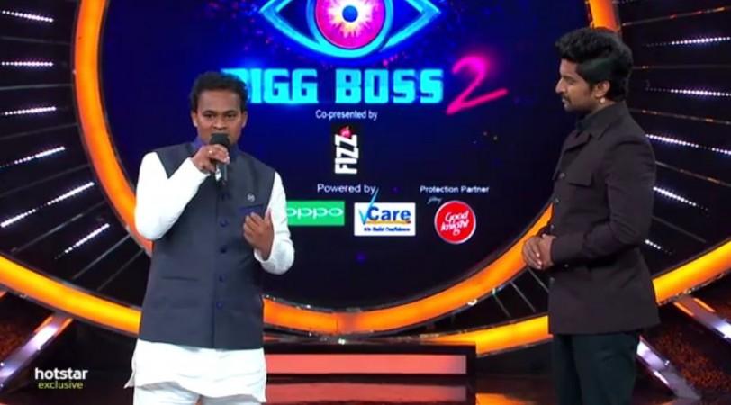 Nuthan Naidu with Nani on Bigg Boss Telugu 2