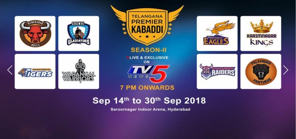 Telangana Premier Kabaddi 2018 teams