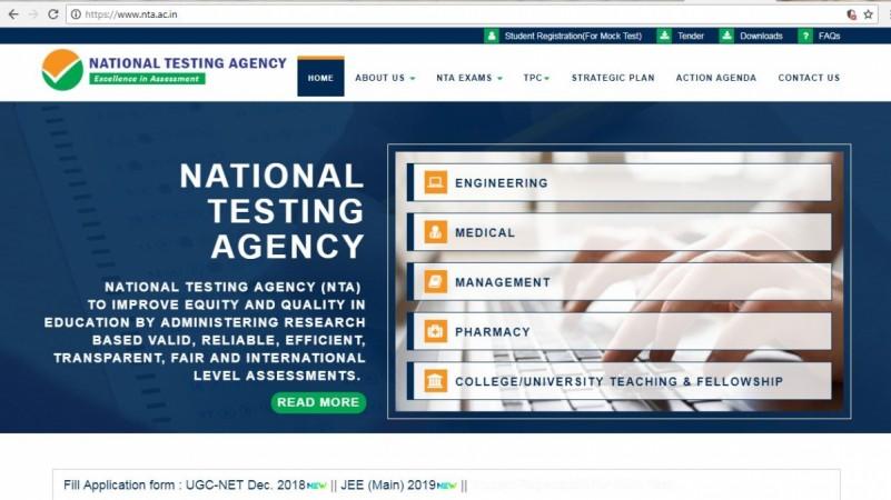 NTA original website screenshot