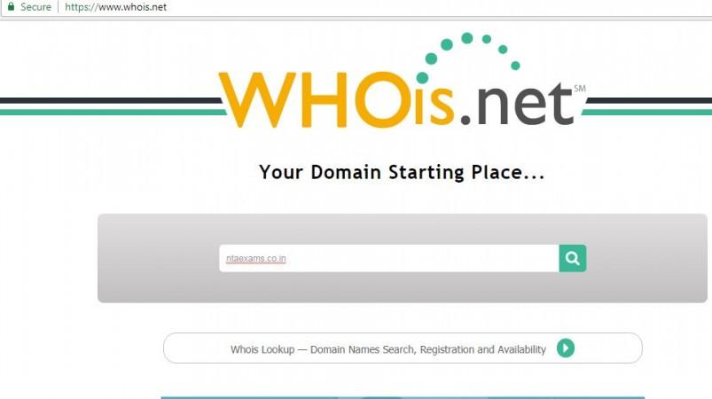 who is website screenshot