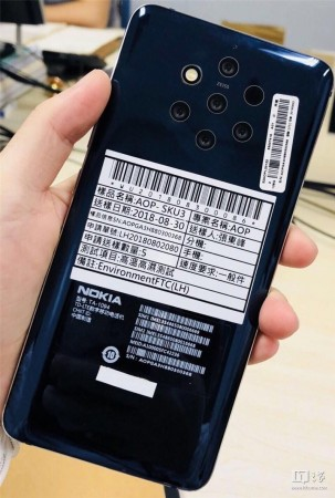 Nokia 9 with five cameras leaked