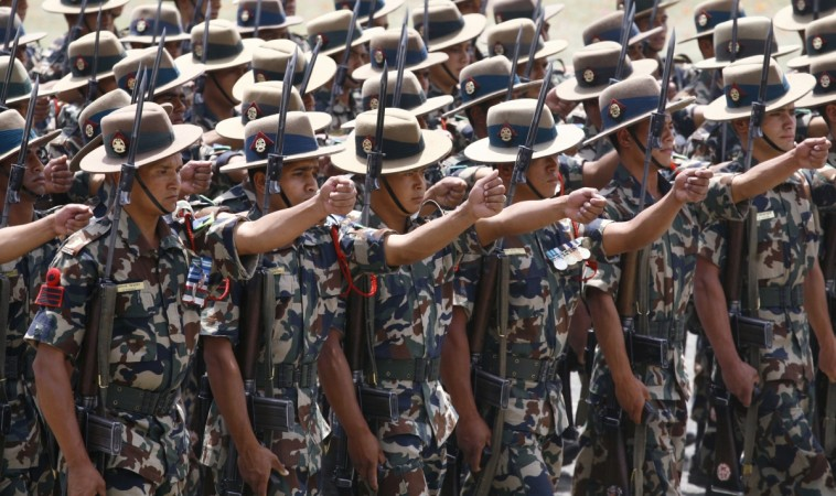 Nepalese army soldiers