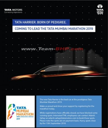 Tata Harrier to lead Mumbai Marathon