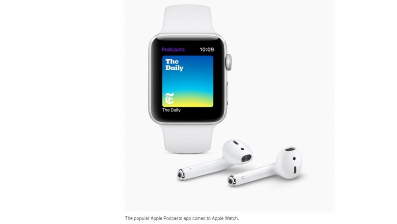 Apple, watchOS 5, features, Podcasts