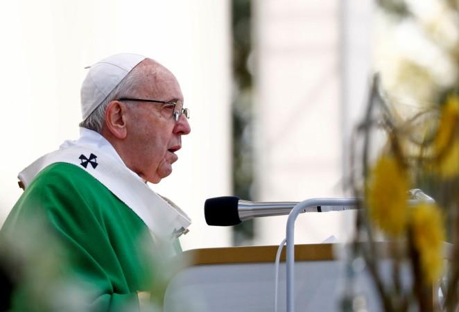 Pope Francis celebrates Holy Mass in Kaunas