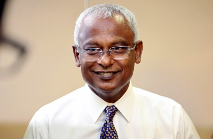 Maldivian joint opposition presidential candidate Ibrahim Mohamed Solih