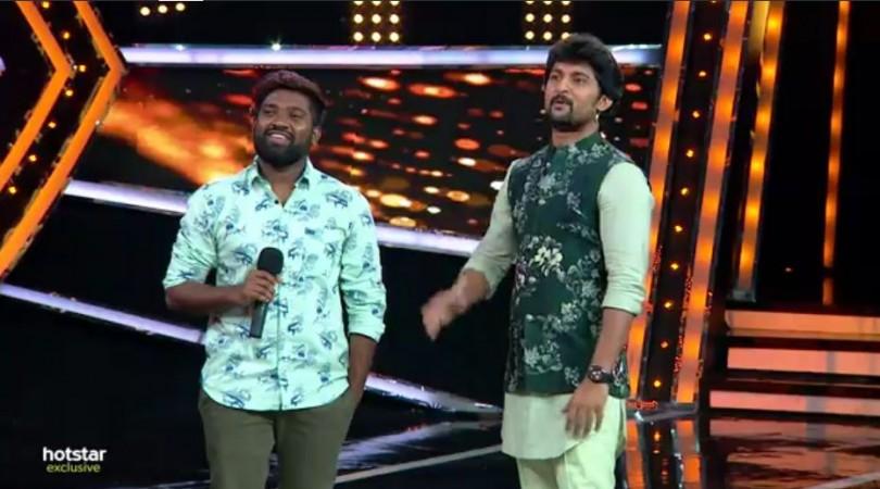 Rapper Roll Rida with Nani on Bigg Boss Telugu 2