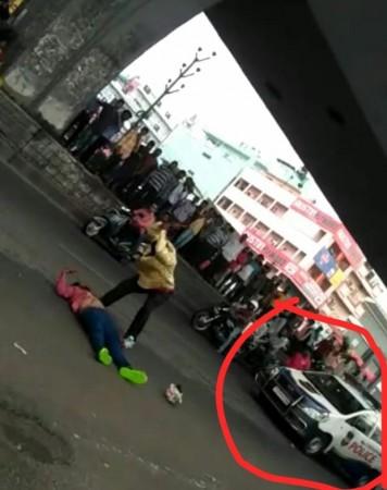 Hyderabad man killed in front of police van