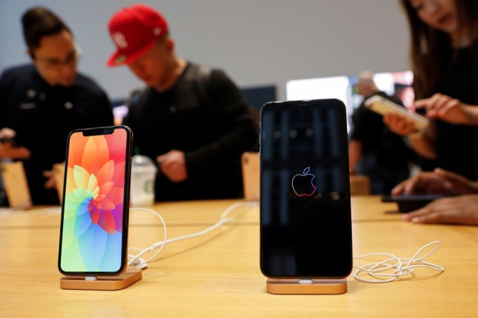 The new Apple iPhone Xs Max and iPhone X are seen on display at the Apple Store in Manhattan, New York, U.S.,