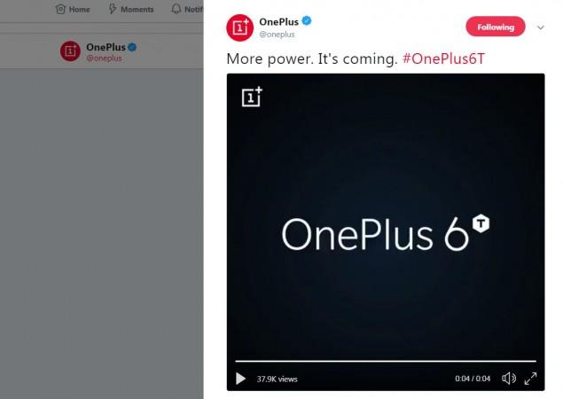 OnePlus 6T, teaser, in-screen fingerprint sensor,
