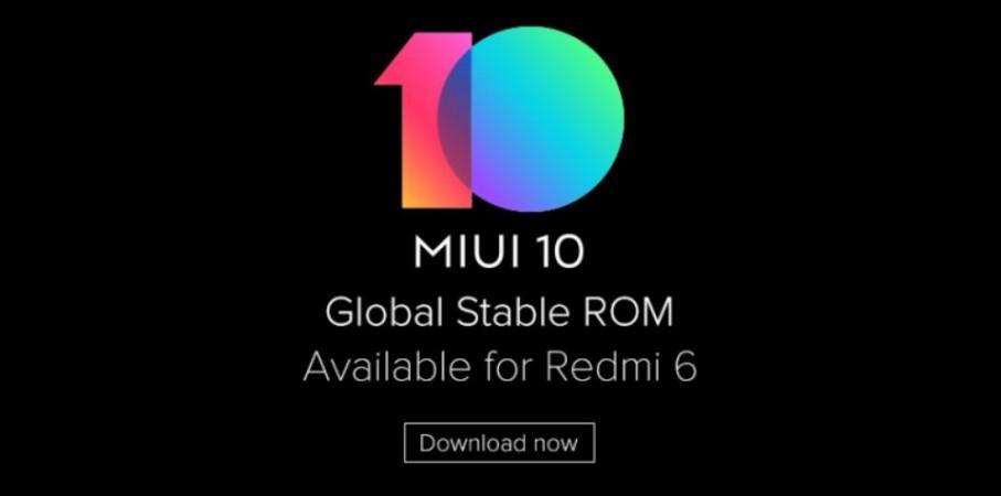 Xiaomi, Redmi 6, MIUI 10, update