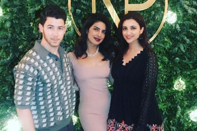 Nick Jonas, Priyanka Chopra, Parineeti Chopra